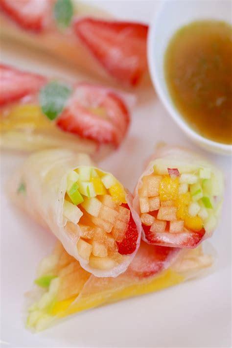 summer fruit spring rolls gemmas bigger bolder baking