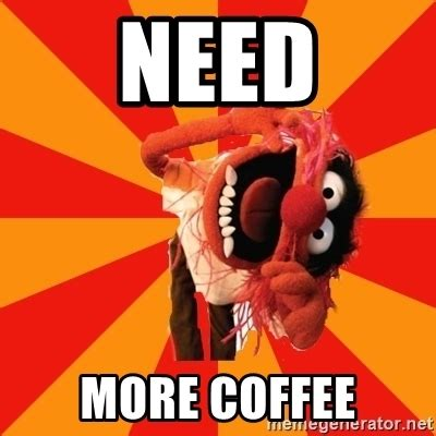 Coffee Meme - need more coffee animal muppet meme generator