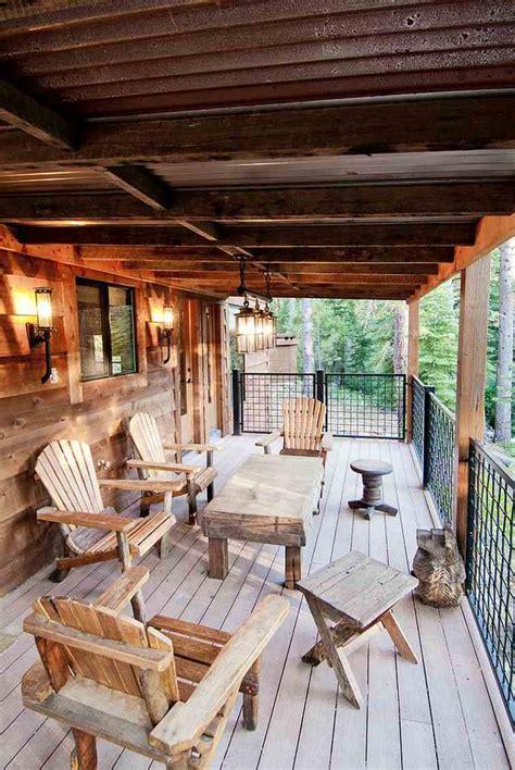 deco terrasse en bois rustique en  idees inspirantes