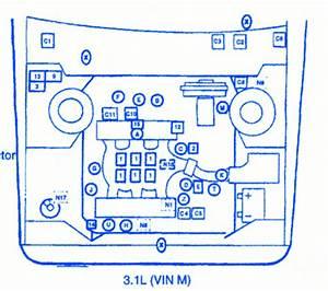 Pontiac Firehawk Sport 2002 Fuse Box  Block Circuit Breaker