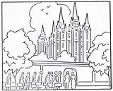 Temple Coloring Pages Lake Salt Lds Printable Temples Primary Mormon Clip Building History sketch template