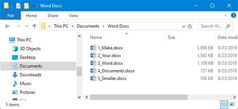 reduce  size   microsoft word document