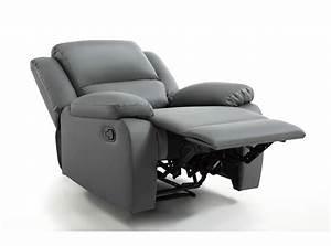 Fauteuil Exterieur Pas Cher : fauteuil relaxation 1 place simili cuir detente usinestreet ~ Teatrodelosmanantiales.com Idées de Décoration