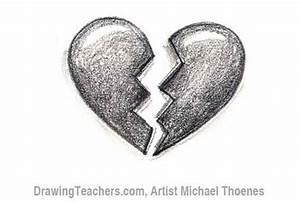 Broken Heart Sketch In Pencil