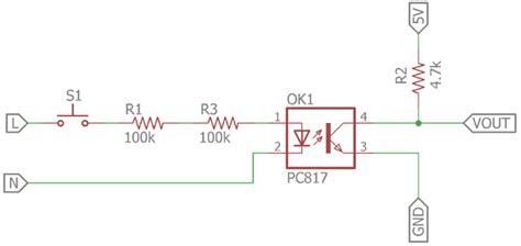 optocoupler  detecting ac voltage electronics
