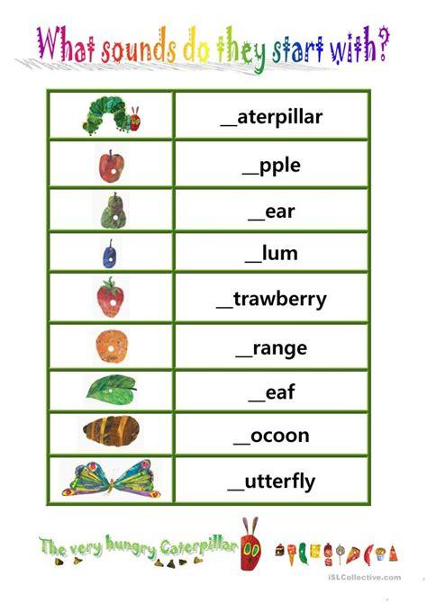 phionics beginning sound    hungry caterpillar