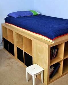 Bett 100x200 Mit Stauraum : bett selber bauen f r ein individuelles schlafzimmer design freshouse ~ Indierocktalk.com Haus und Dekorationen