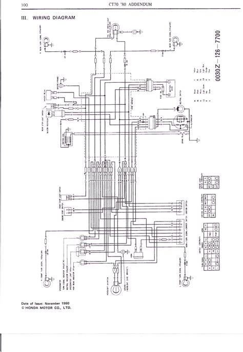 1977 Honda Ct70 Wiring Schematic by Honda Ct70 Wiring Diagram Auto Electrical Wiring Diagram