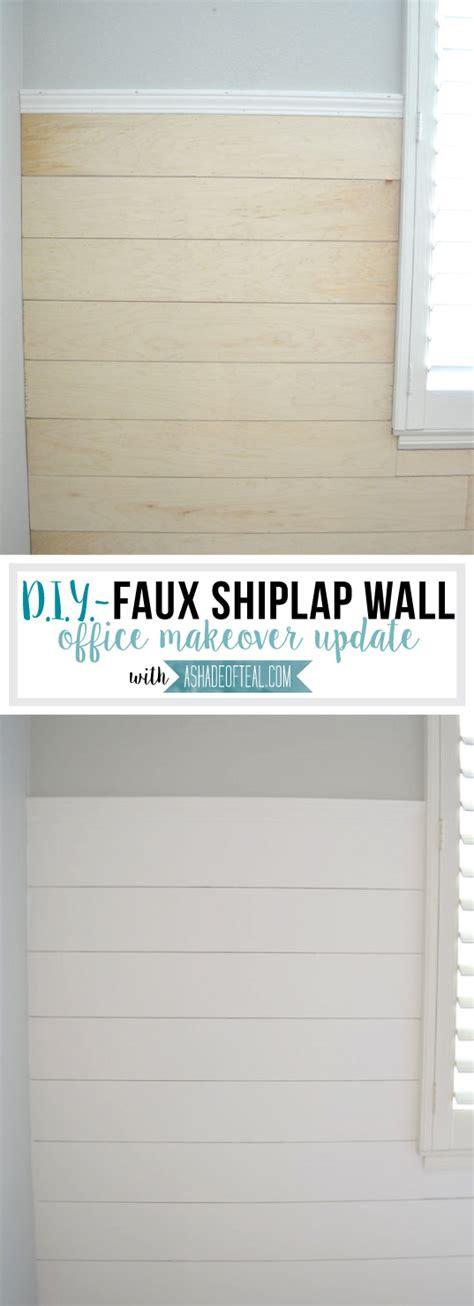 Faux Shiplap Wall by Diy Faux Shiplap Wall A Shade Of Teal