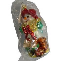 christopher radko glass snowman ornament from rubylane sold on ruby lane