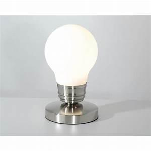 Lampe à Clipser : lampe chevet tactile en forme d 39 ampoule luminaire original ~ Teatrodelosmanantiales.com Idées de Décoration