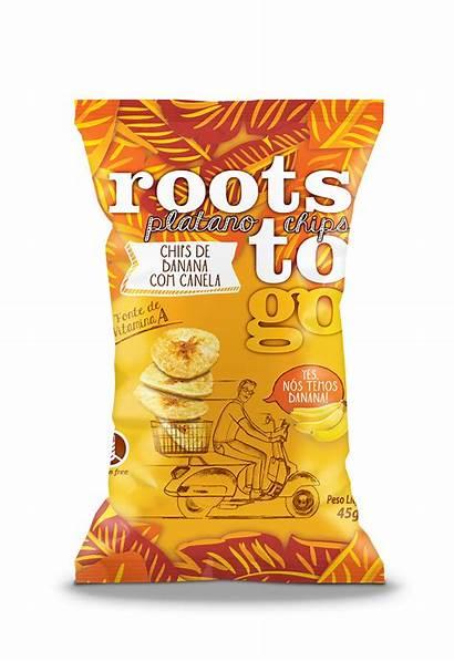 Snacks Chips Novos Sabores Ganham Roots Packaging