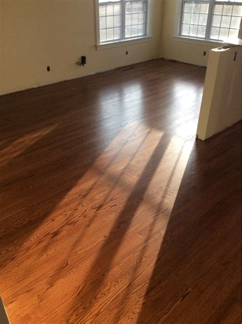 red oak floor stained  english chestnut red oak