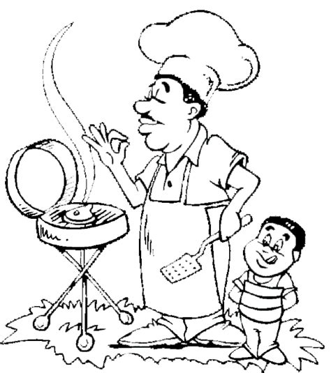 Barbeque Kleurplaten by Bbq On The Grill With Coloring Pages Fathers