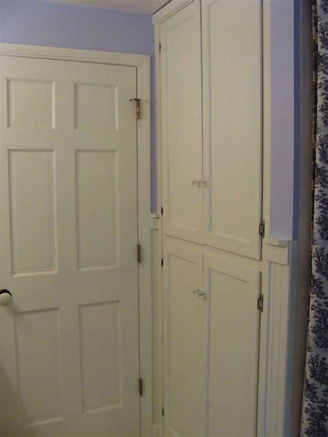 the door and linen closet