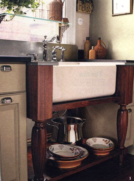 farmhouse sink supported  table legs freestanding