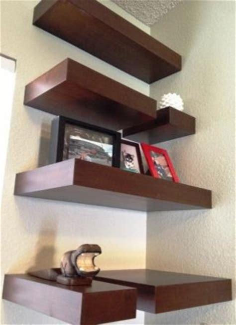 modern corner shelf wood corner shelves contemporary by cut designs