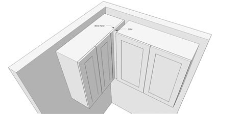 Cabinet Filler Size by Using Fillers When Designing Kitchen Cabinets Popular