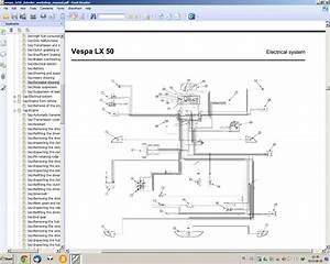 Vespa Lx 50 2t - Elektryka  Schemat