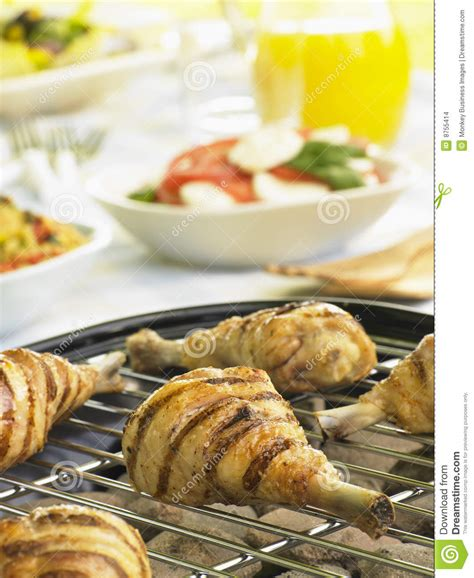 chicken cook time grill chicken cooking on a grill stock images image 8755414