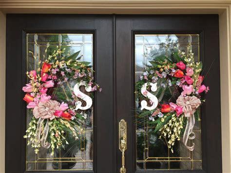 double door wreaths ideas  pinterest door