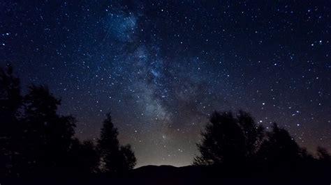 Milky Way Night Sky Stars And Trees 4k Time Lapse