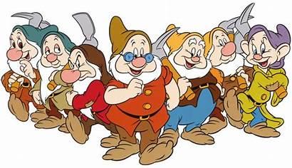 Dwarfs Seven Disney Line Films Sticker Canceled