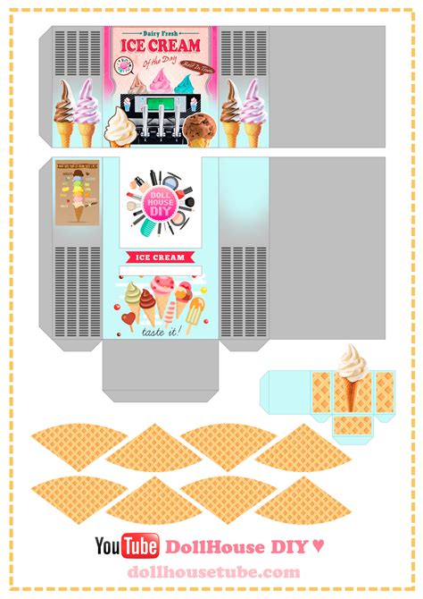 Printables Dollhouse Food Miniature Boxes