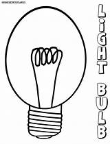 Bulb Light Coloring Pages Lightbulb Clipart sketch template