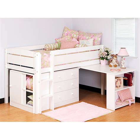 loft bed with desk and storage walmart