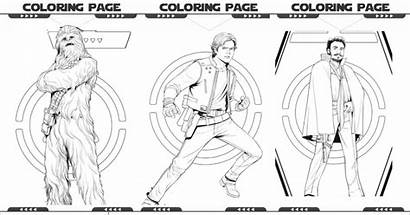 Wars Coloring Star Pages Characters Printables Newest