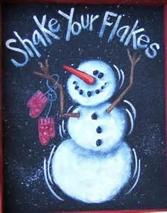 Winter Snowman Tole Painting Pattern