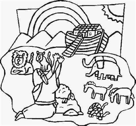 Kleurplaat Regenboog Ark Noach by Ark Noach Kleurplaat Nw35 Belbin Info