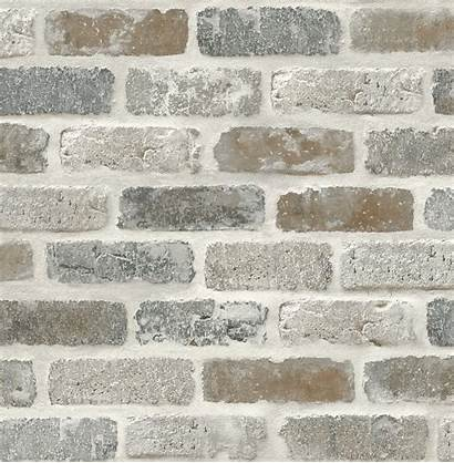 Brick Faux Stick Peel Gray Brown Washed