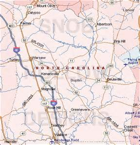 Duplin County North Carolina Map