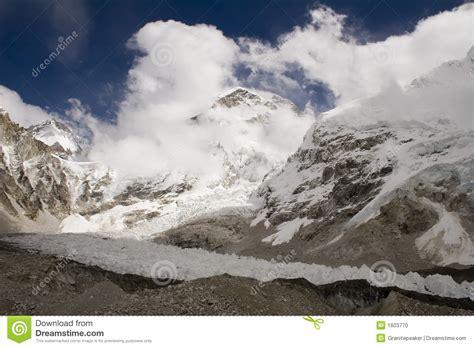 Changtse, Khumbutse, And Everest Stock Photo