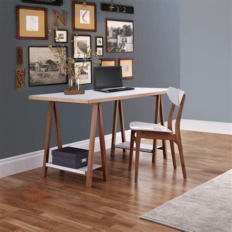 bureau à tréteaux design et pratique highbury drawer fr