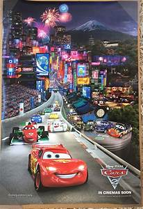 CARS 2 MOVIE POSTER 2 Sided ORIGINAL RARE INTL TOKYO 27x40 ...