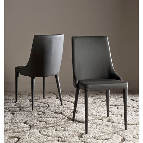 safavieh leather dining chairs safavieh summerset gray 19 in h leather side chair set