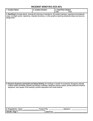 ics  incident fill  printable fillable blank