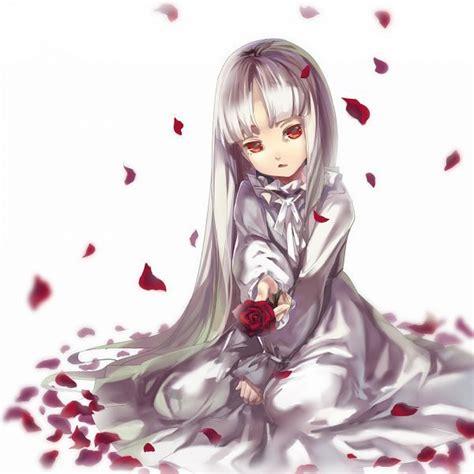 anime girl  sound horizon elice white hair red