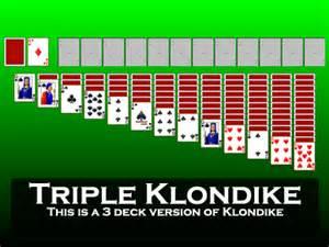 play quadruple klondike solitaire