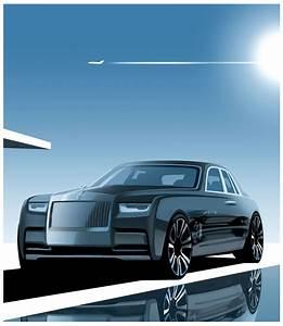 Rolls Royce Phantom VIII Design Render Illustration Car