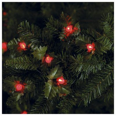 led christmas holly berry lights buy tesco and berry led lights battery operated from our all range