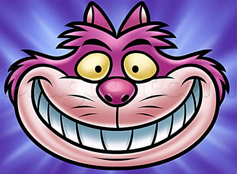 draw cheshire cat easy   draw alice