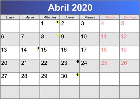 calendario abril imprimible abc calendarioes