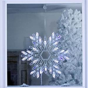 Northlight, Hanging, Snowflake, Window, Cling, With, White, Led, Lights, In, The, Outdoor, Christmas