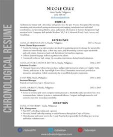 two different types of resume resume types by format inforati philippines