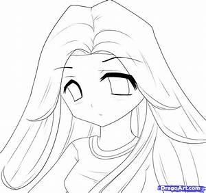 How to Draw Anime Bella Swan, Anime Bella Swan, Step by ...