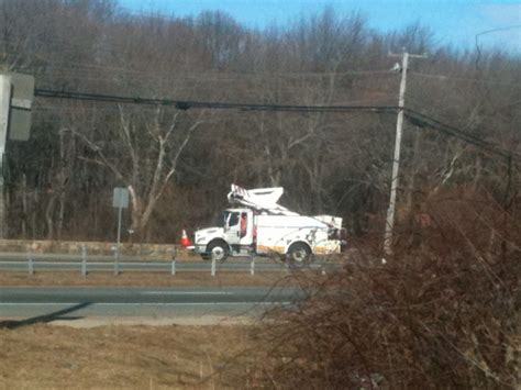 national grid truck crashes  power outage fire